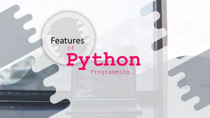 features of the python programming language